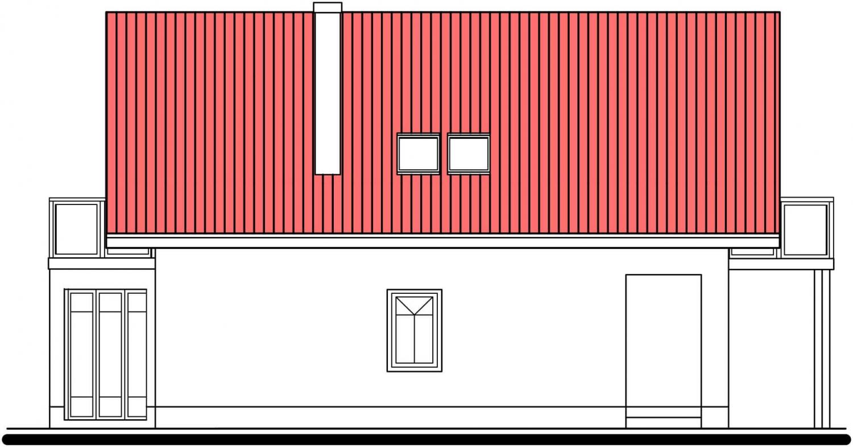 Pohľad 2. - Klasický dom so suterénom a s podkrovím.