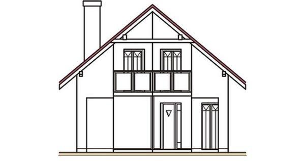 Pohľad 1. - Klasický dom s podkrovím