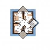 Pôdorys poschodia - HARMONIA 35