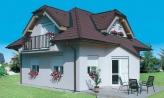 Dom zvláštnych tvarov striech