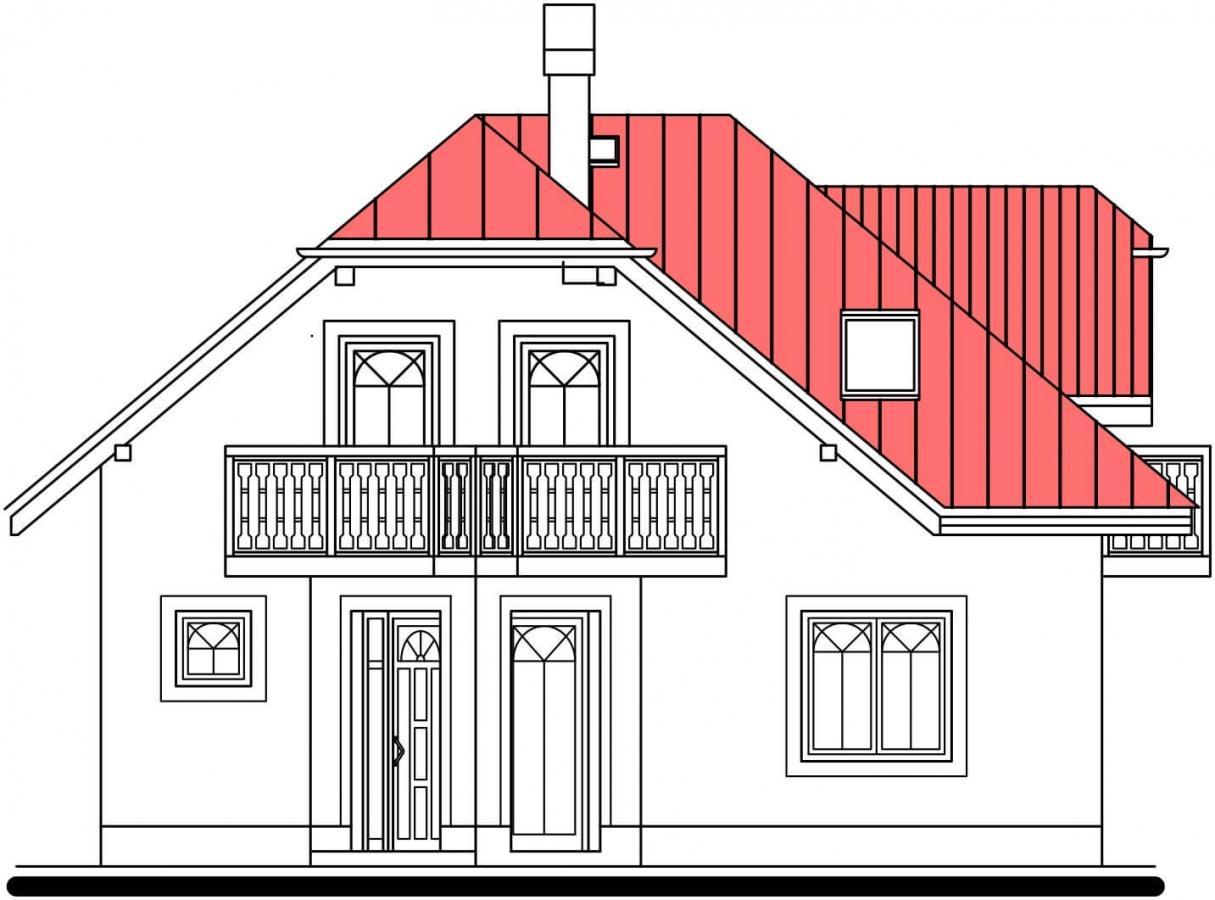 Pohľad 1. - Atypický dom so suterénom a priestrannou obývačkou.
