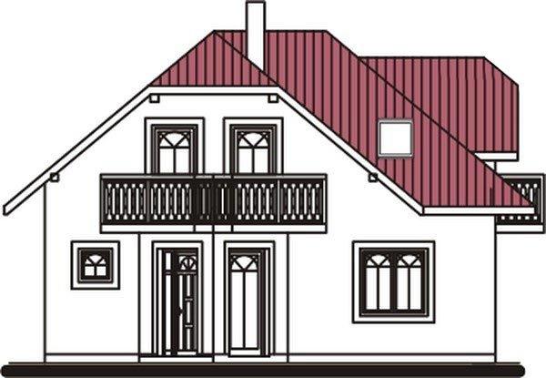 Pohľad 1. - Dom zvláštnych tvarov striech