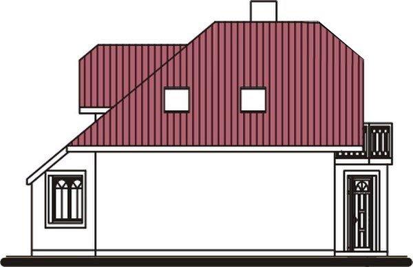 Pohľad 2. - Dom zvláštnych tvarov striech