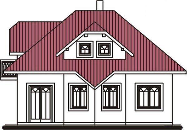 Pohľad 3. - Dom zvláštnych tvarov striech