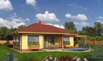 Projekt rodinného domu s valbovou strechou