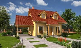 Malý dom s podkrovím a vikiermi
