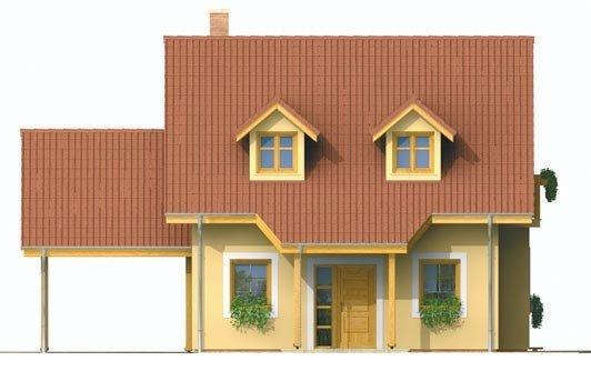 Pohľad 1. - Malý dom s podkrovím a vikiermi
