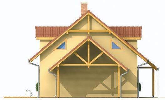 Pohľad 2. - Malý dom s podkrovím a vikiermi