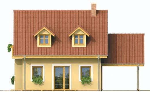 Pohľad 3. - Malý dom s podkrovím a vikiermi