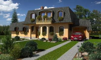 Veľký dom so suterénom