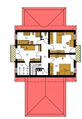 Pôdorys poschodia - HORIZONT 64