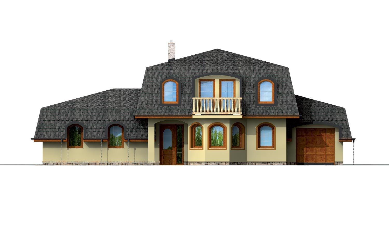 Pohľad 1. - Priestranný dom s garážou a so suterénom.