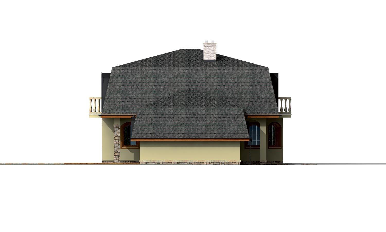 Pohľad 2. - Priestranný dom s garážou a so suterénom.
