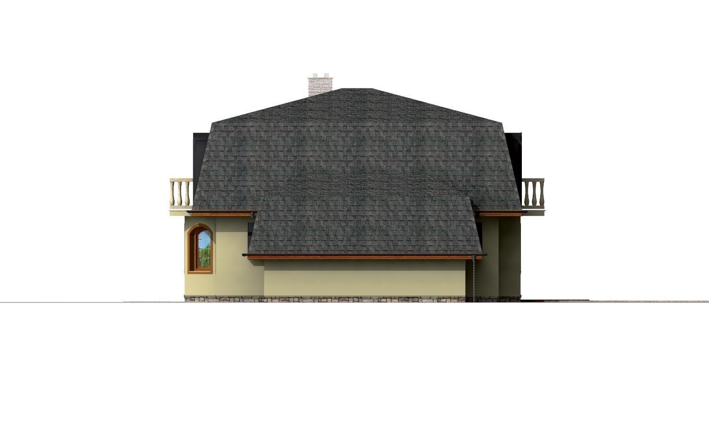 Pohľad 4. - Priestranný dom s garážou a so suterénom.