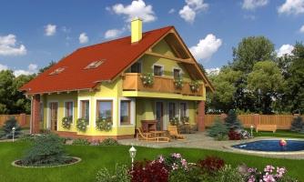 Klasický dom s obytným podkrovím a apsidou
