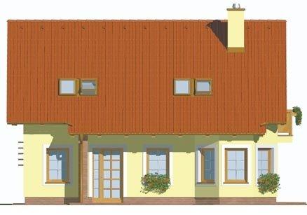 Pohľad 1. - Klasický dom s obytným podkrovím a apsidou