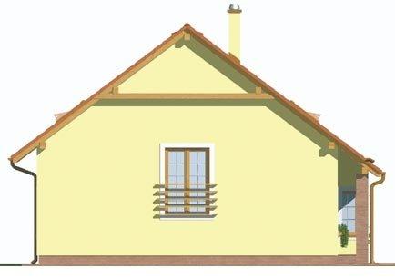 Pohľad 2. - Klasický dom s obytným podkrovím a apsidou