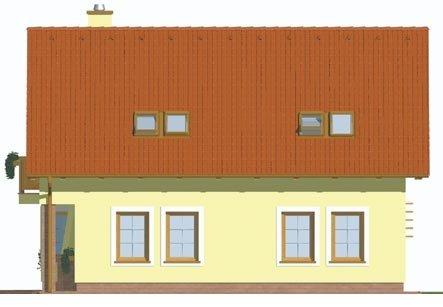 Pohľad 3. - Klasický dom s obytným podkrovím a apsidou