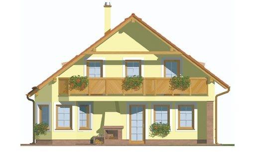 Pohľad 4. - Klasický dom s obytným podkrovím a apsidou