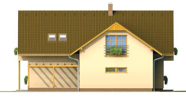 Pohľad 4. - Dom s garážou vhodný ako dvojdom