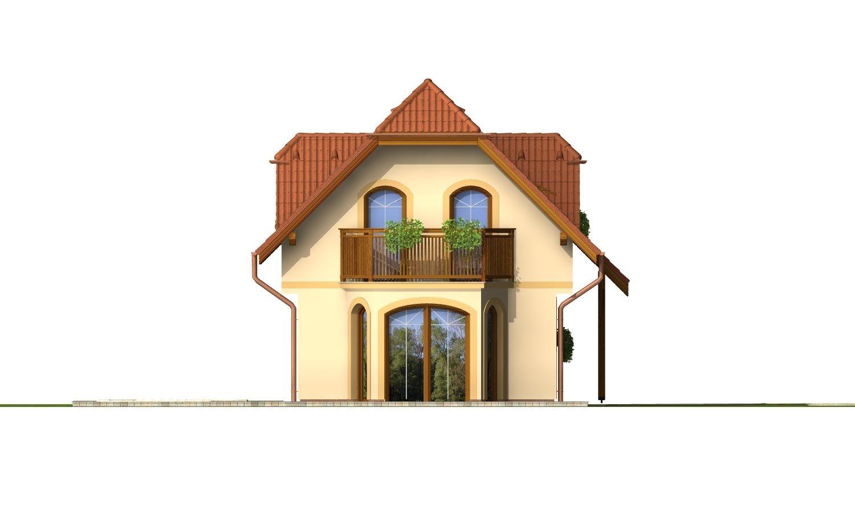 Pohľad 3. - Dom s podkrovím na úzky pozemok.