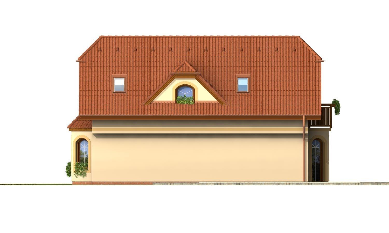Pohľad 4. - Dom s podkrovím na úzky pozemok.