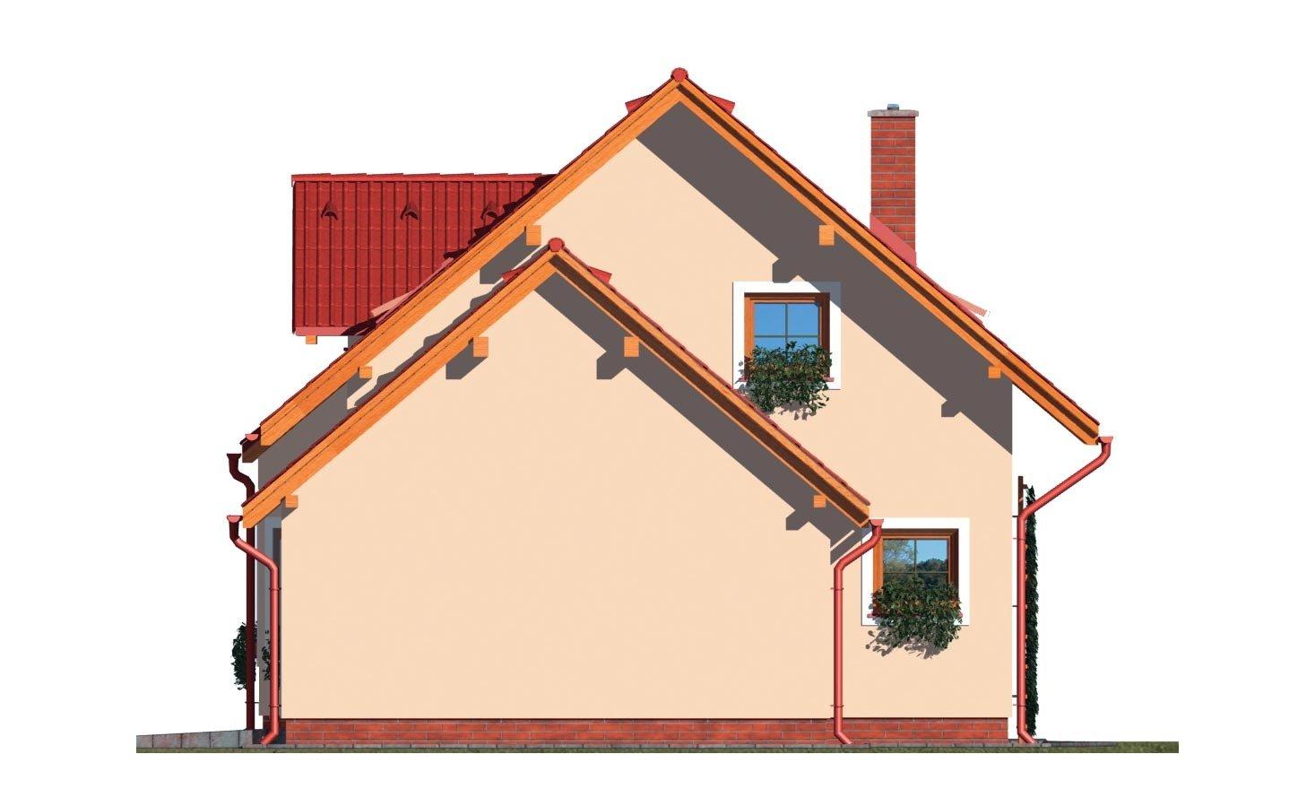 Pohľad 4. - Obľúbený rodinný dom s garážou.