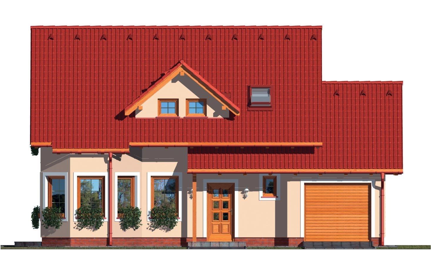 Pohľad 1. - Obľúbený rodinný dom s garážou.
