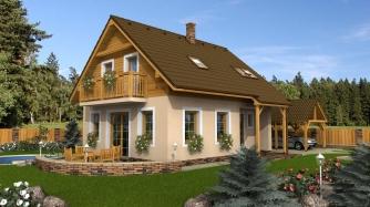 Podkrovný dom vhodný na malý pozemok aj ako chata.