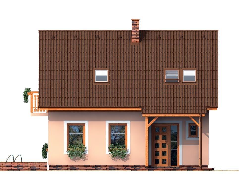 Pohľad 1. - Podkrovný malý dom na úzky pozemok
