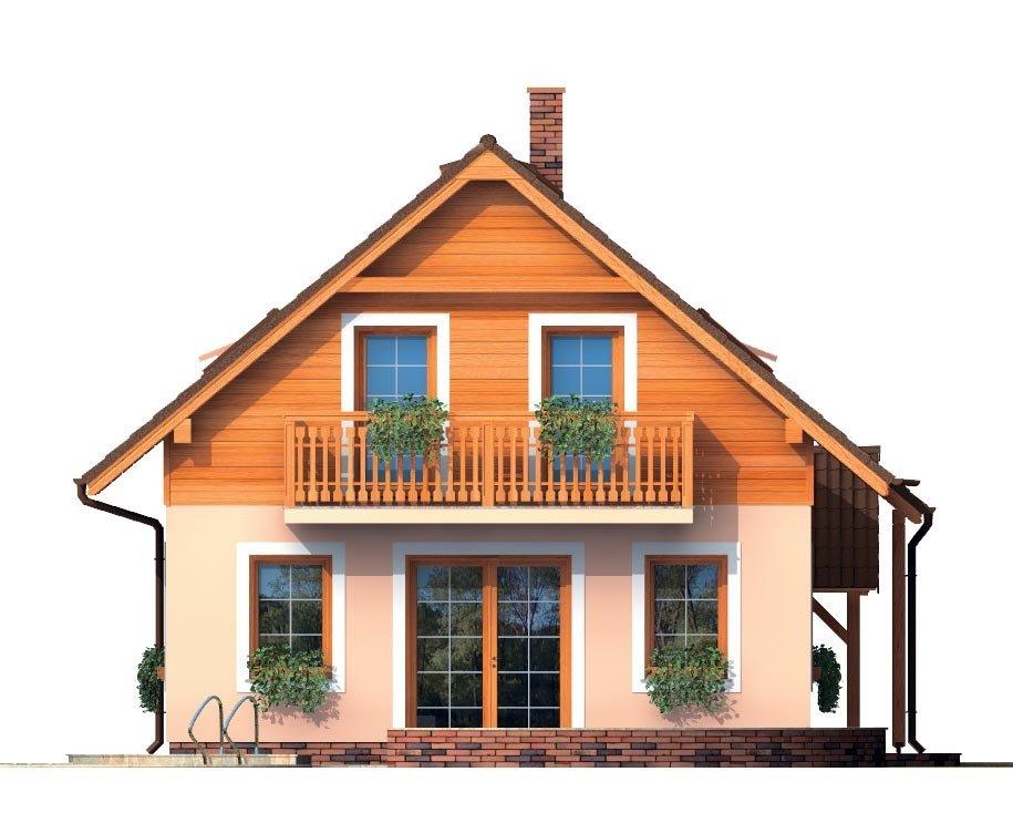 Pohľad 2. - Podkrovný malý dom na úzky pozemok