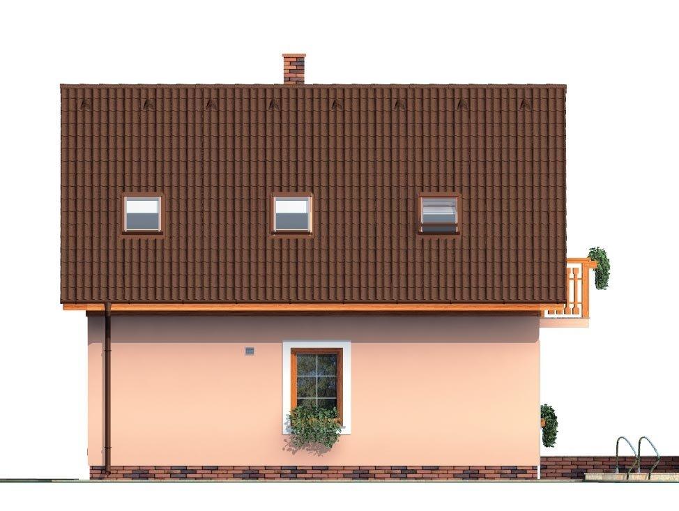 Pohľad 3. - Podkrovný malý dom na úzky pozemok