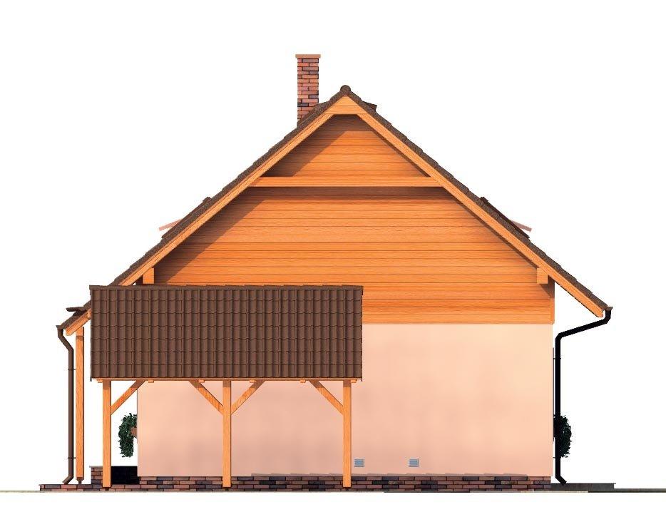 Pohľad 4. - Podkrovný malý dom na úzky pozemok