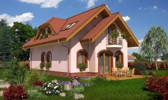Poschodový rodinný dom na úzky pozemok.