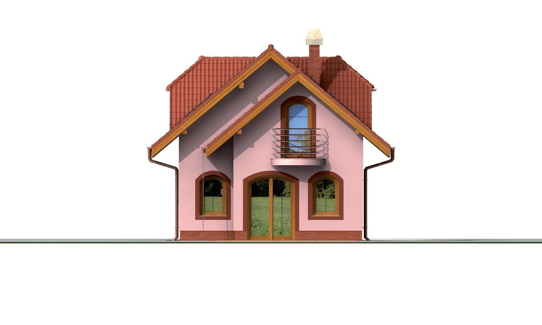 Pohľad 3. - Rodinný dom na úzky pozemok