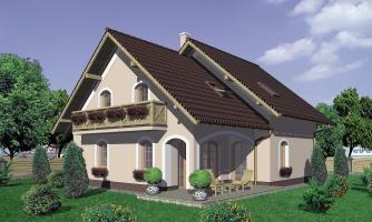 Projekt 5-izbového domu s garážou.