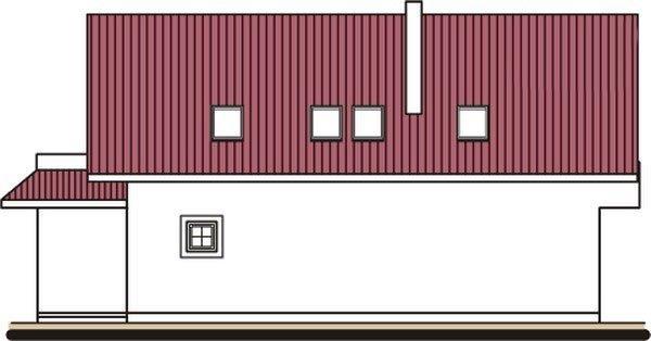 Pohľad 2. - Projekt domu na úzky pozemok s garážou