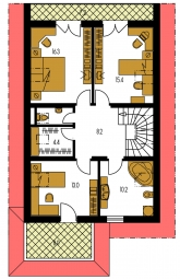 Pôdorys poschodia - KLASSIK 113