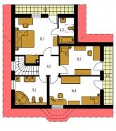 Pôdorys poschodia - KLASSIK 115