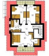 Pôdorys poschodia - KLASSIK 117