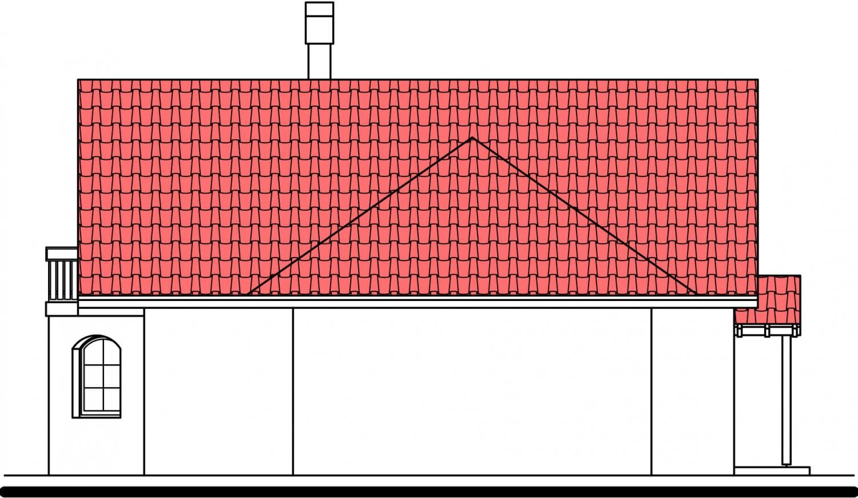 Pohľad 2. - Podkrovný dom s garážou, vhodný aj ako dvojdom pri spojení garážami.