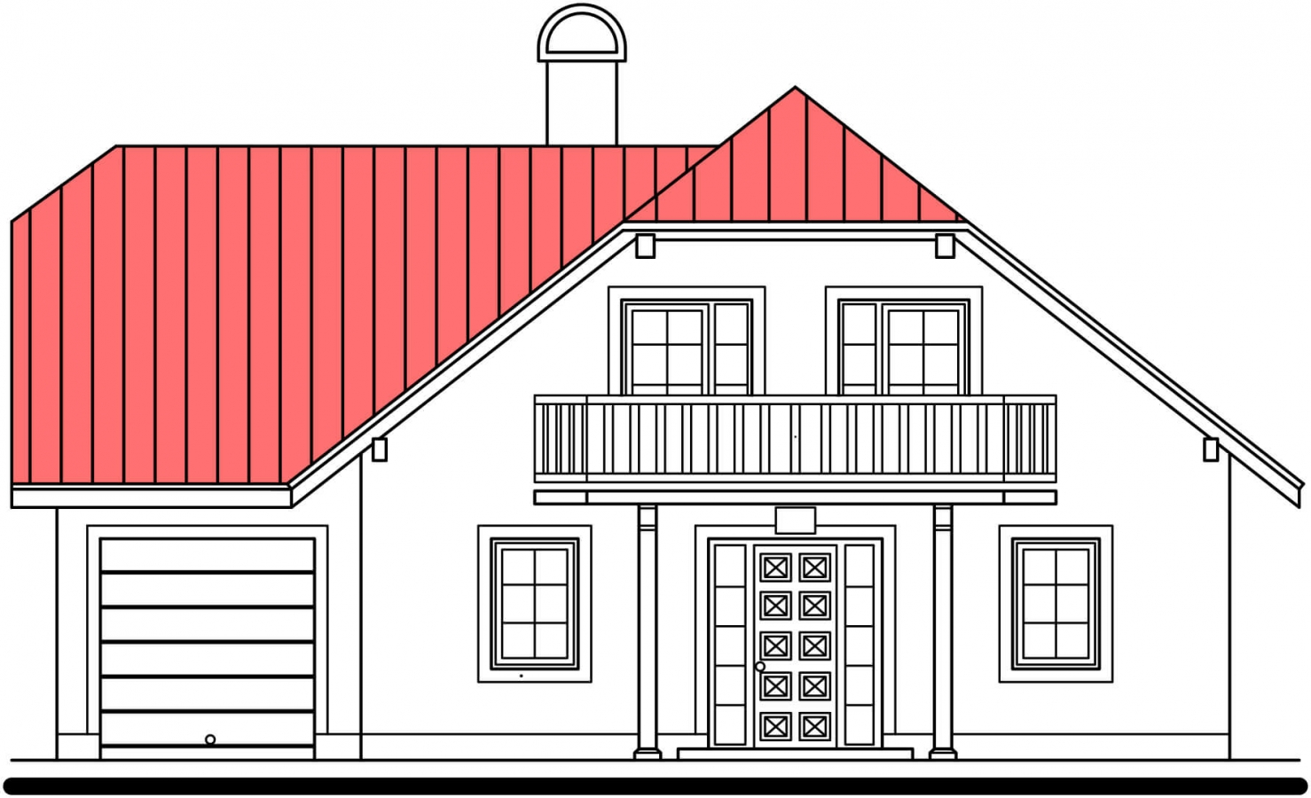 Pohľad 1. - Dom s garážou a rozľahlým suterénom, vhodný ako dvojdom