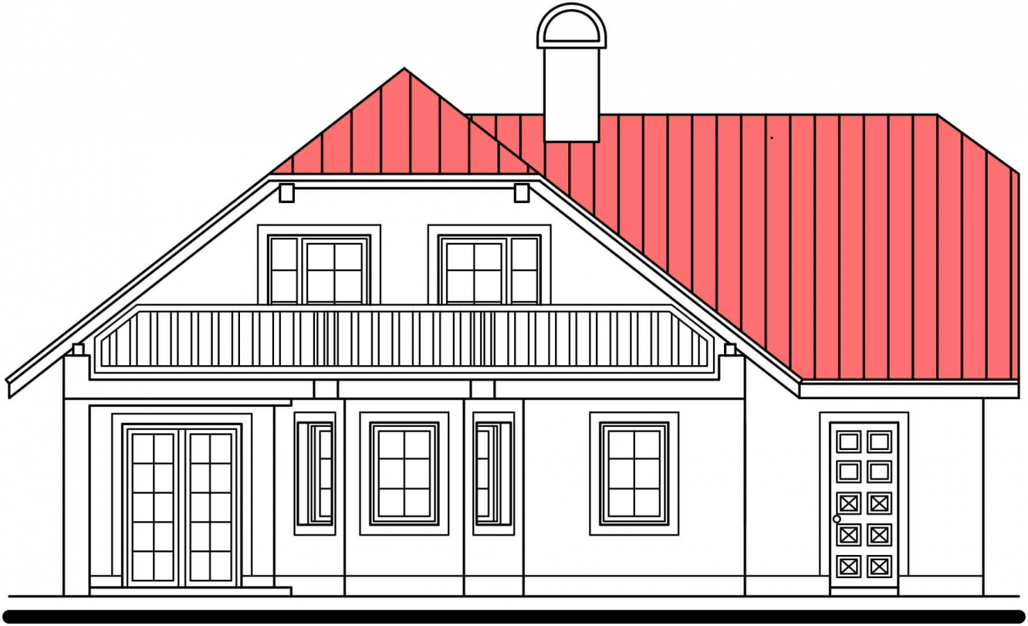 Pohľad 3. - Dom s garážou a rozľahlým suterénom, vhodný ako dvojdom