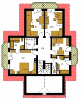 Pôdorys poschodia - KLASSIK 128