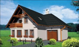 Projekt domu na úzky pozemok so suterénom.