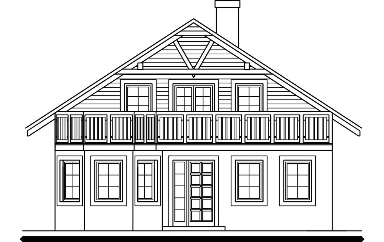 Pohľad 1. - 5 izbový dom so suterénom a izbou na prízemí