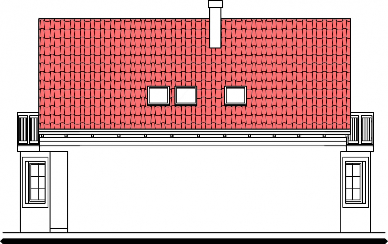 Pohľad 2. - 5-izbový dom so suterénom a izbou na prízemí.