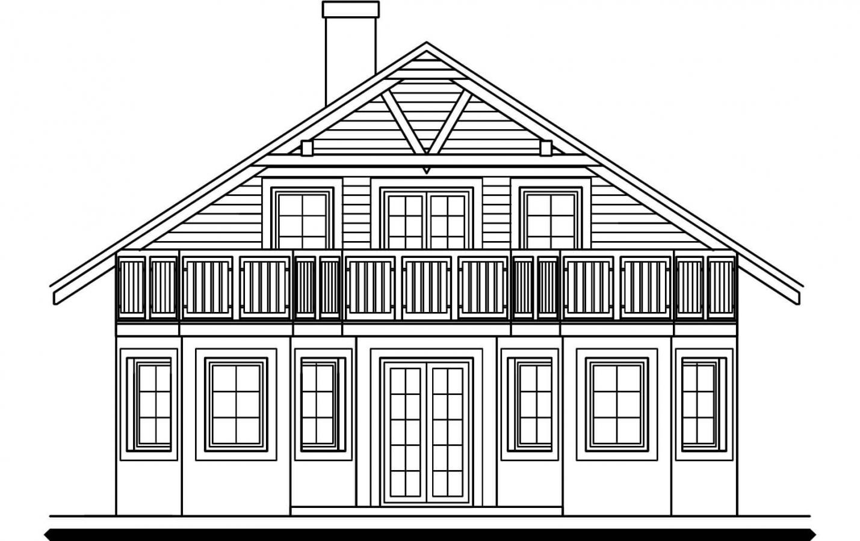 Pohľad 3. - 5-izbový dom so suterénom a izbou na prízemí.