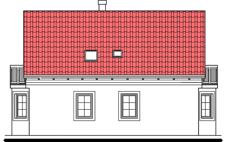 Pohľad 4. - 5 izbový dom so suterénom a izbou na prízemí
