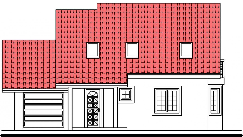 Pohľad 1. - Dom s garážou vhodný aj ako dvojdom.